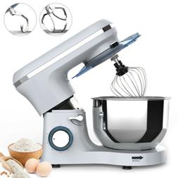 Electric Food Stand Mixer 6 Speed 7QT 660W Tilt-Head Stainle