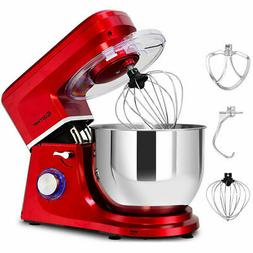Electric Food Stand Mixer 6 Speed 7.5Qt 660W Tilt-Head Stain