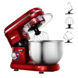 VIVOHOME Electric Stand Mixer 6-Speed Bowl-Lift Tilt-Head Do