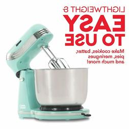Electric Stand Mixer Aqua 6 Speed with 3 qt Stainless Steel