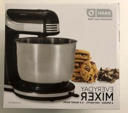 DASH Everyday Mixer 6 Speed w/ 2.5 Quart Bowl 250 Watts - Bl