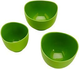 iSi Flex It Mixing Bowl 3 Piece Set 1-2 Quart Set Wasabi