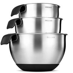 FineDine Stainless Steel Mixing Bowls -  Nesting Bowls, 18/8