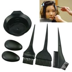 Hair Coloring Dyeing Kit Salon Color Dye Brush Comb Mixing B
