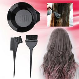 Hair Salon Coloring Dyeing Kit Color Dye Brush Comb Mixing B