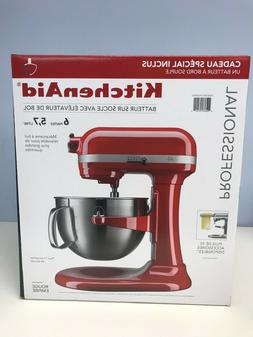 Kitchen Aid Professional Empire Red 6qt Bowl Lift  Stand Mix