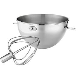 KN3CW Stainless Steel 3 Qt. Mixing Bowl and Whip for Stand M