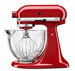 KitchenAid KSM105GBCER 5-Qt. Tilt-Head Stand Mixer with Glas