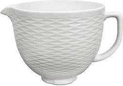 KitchenAid KSMCB5TLW 5-Qt. Tilt-Head Textured Ceramic Bowl -