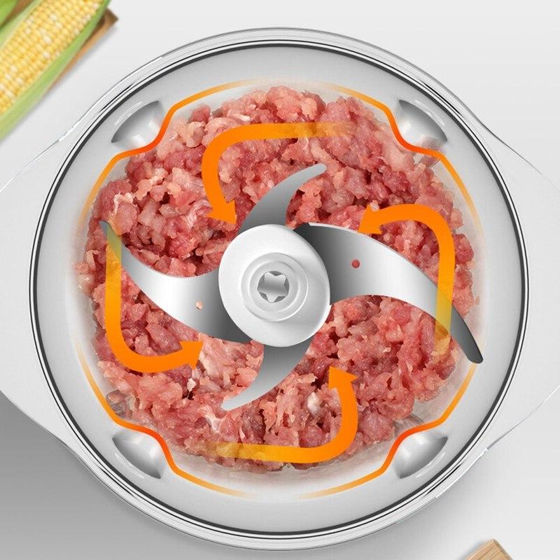 HIMOSKWA 1.2L Multifunctional Grinder 220V Cutter <font><b>Mixer</b></font> Household Mincer Chopper Food <font><b>Bowl</b></font>
