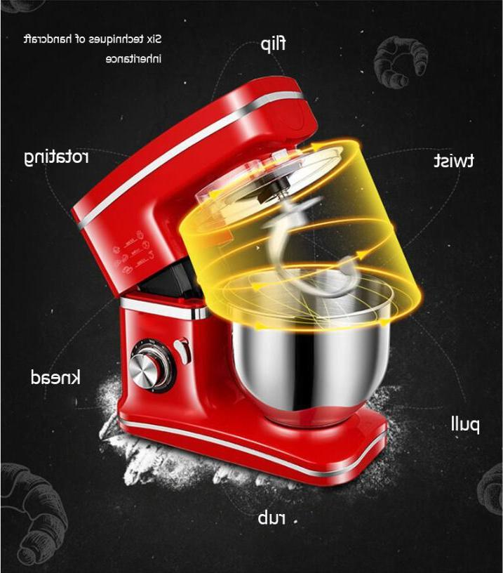 1200W 5.5L Steel <font><b>Bowl</b></font> 8-speed Stand <font><b>Mixer</b></font> Cream Whisk Cake Dough <font><b>Bread</b></font>