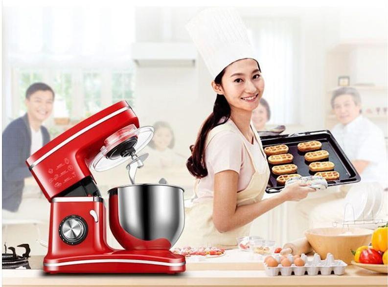 1200W 5.5L Steel <font><b>Bowl</b></font> Kitchen Food Stand <font><b>Mixer</b></font> Whisk Blender Cake Dough <font><b>Bread</b></font>