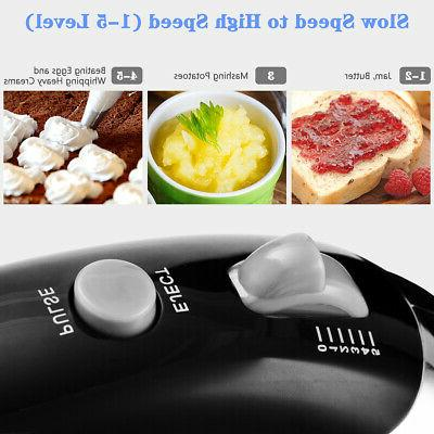 200W Stand Hand Mixer & Stainless Steel Bowl