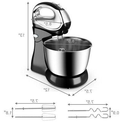 200W Stand Mixer Mixer & Beaters Stainless Bowl