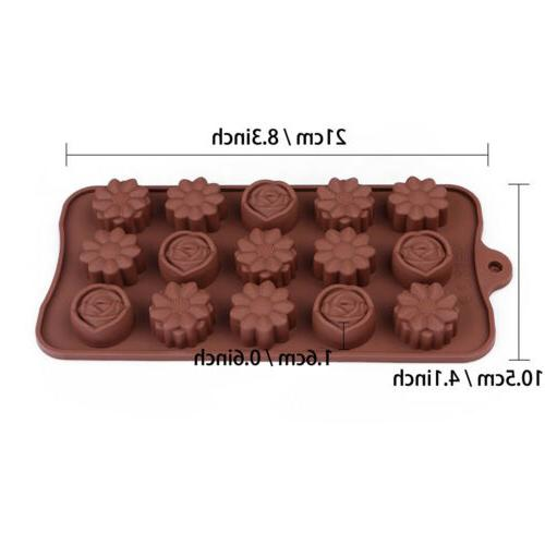 2X 15-Cavity Rose Cake Mold Mould