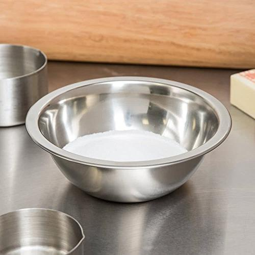 3/4 Mixing Bowl, Polished Finish Flat Bowl, Professional Cookware and Prep