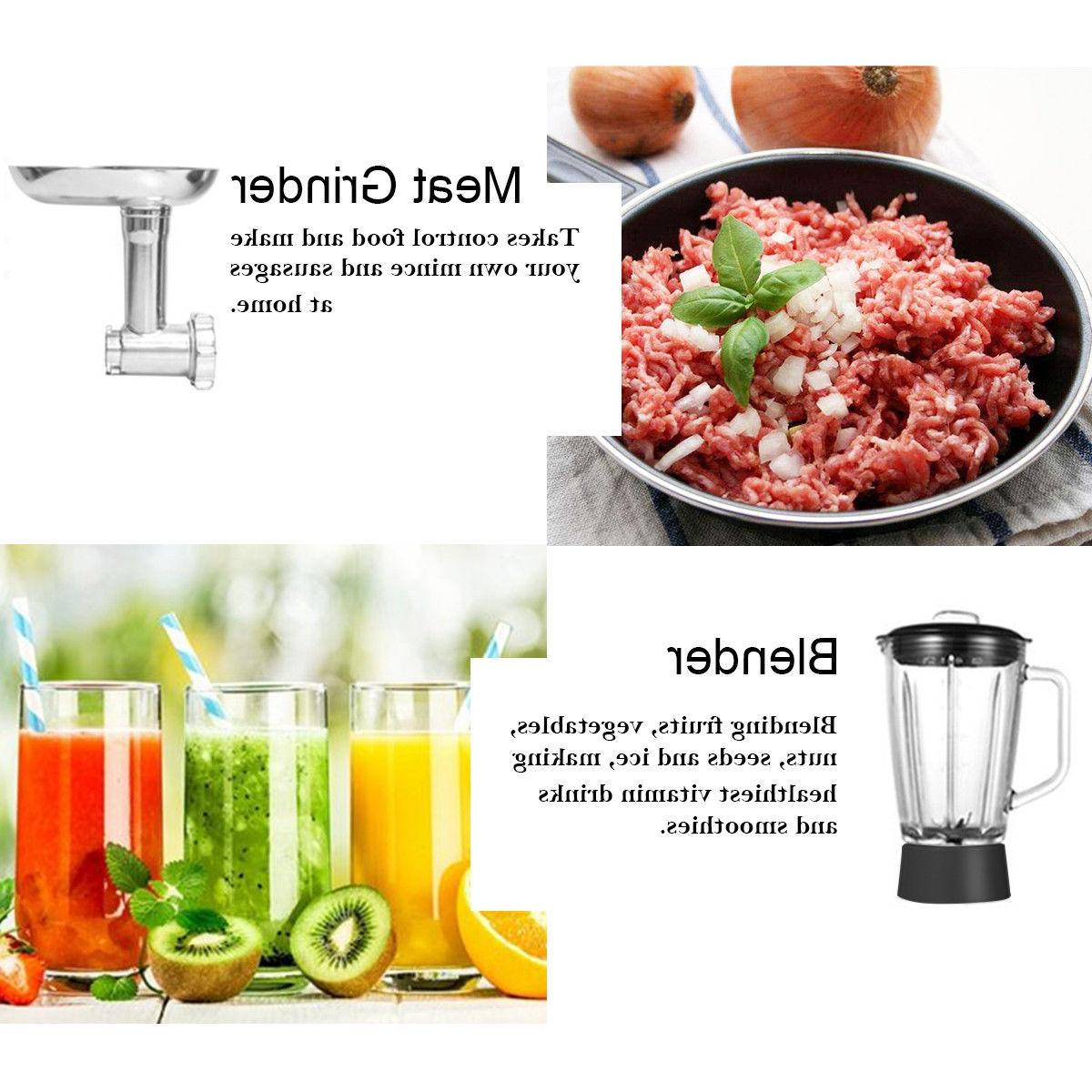 3 In 1 Stand Stainless Bowl Grinder Blender