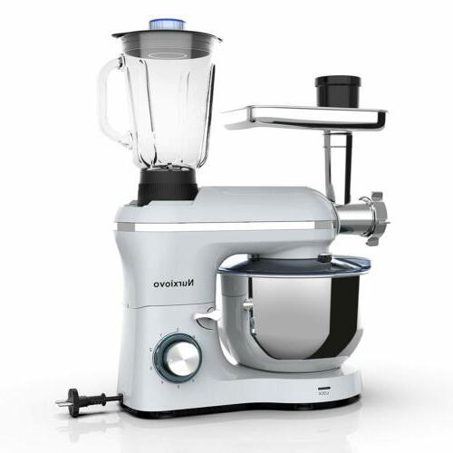 3 Stand Mixer 6 Speed 850W Meat Grinder Silver