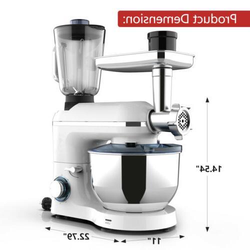 3in1 6 Tilt-Head Mixer+Meat+Grinder Blender w/ White