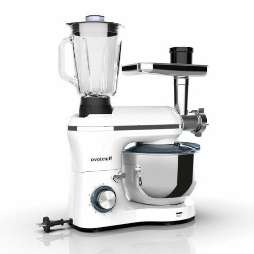3in1 850W 6 Speeds Tilt-Head Stand Mixer+Meat+Grinder Blende