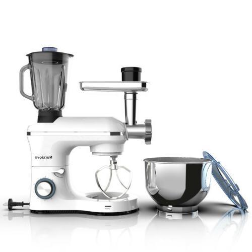 6 3in1 7QT Stand Mixer Kitchen Food Machine White