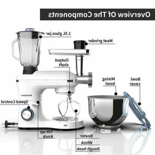 6 3in1 Stand Mixer Tilt-Head Kitchen White