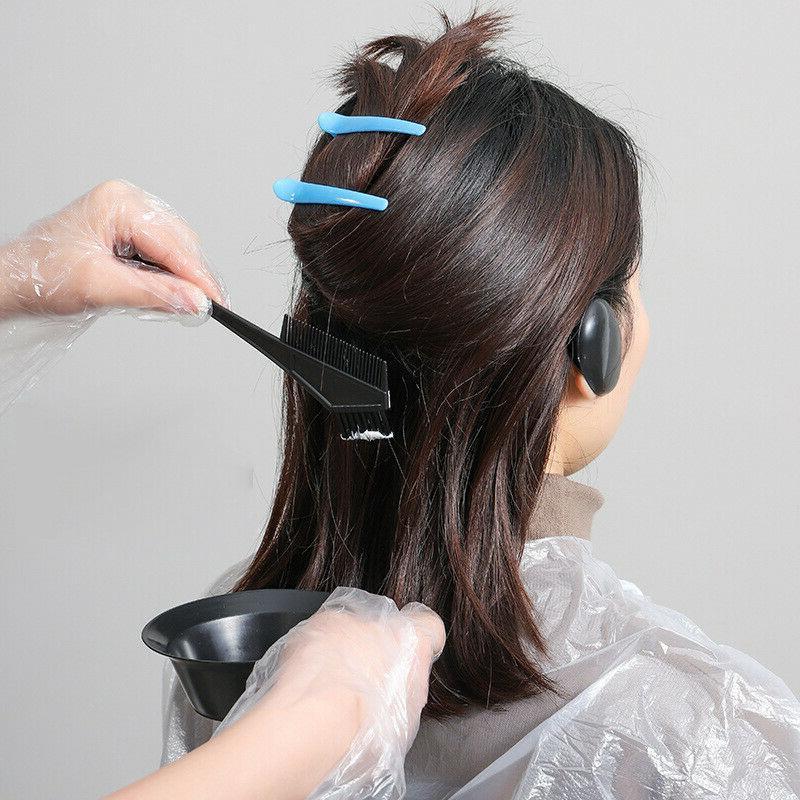 5 PCS Dyeing Tool Salon Color Dye Brush Comb Bowl Kit
