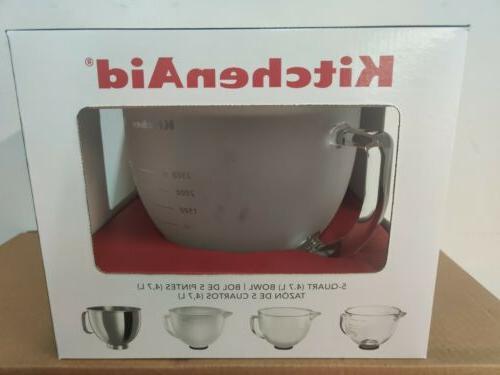 5 qt tilt head frosted glass bowl