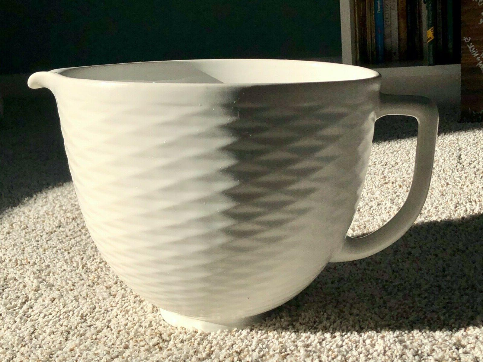 5 quart textured ceramic bowl ksm2cb5tlw