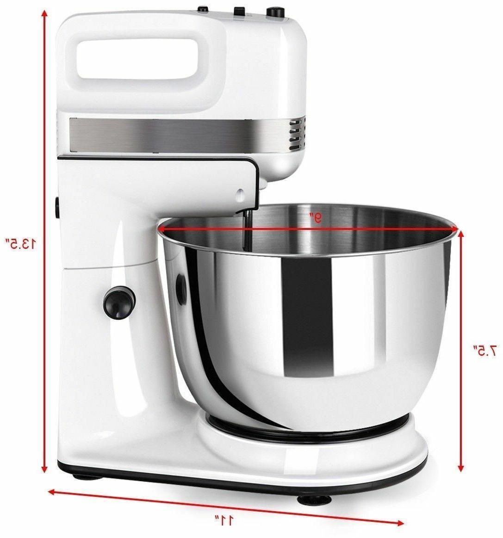 5 Cake Mixer Dough Hook Beater Stainless Bowl