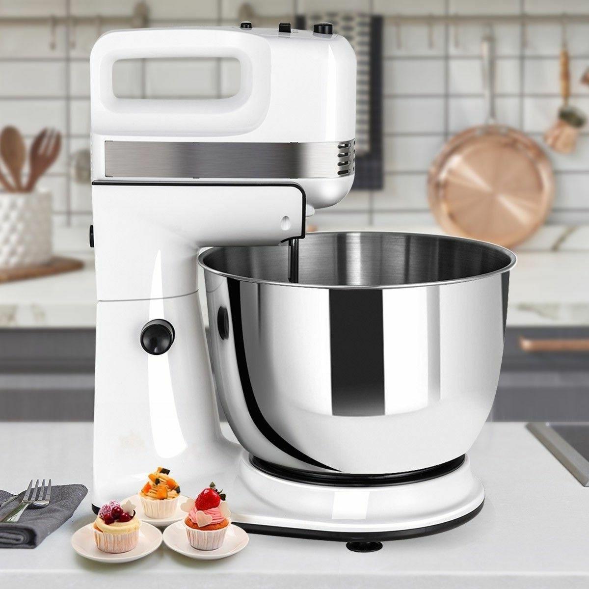 5 Cake Mixer Dough Hook Beater Stand Bowl