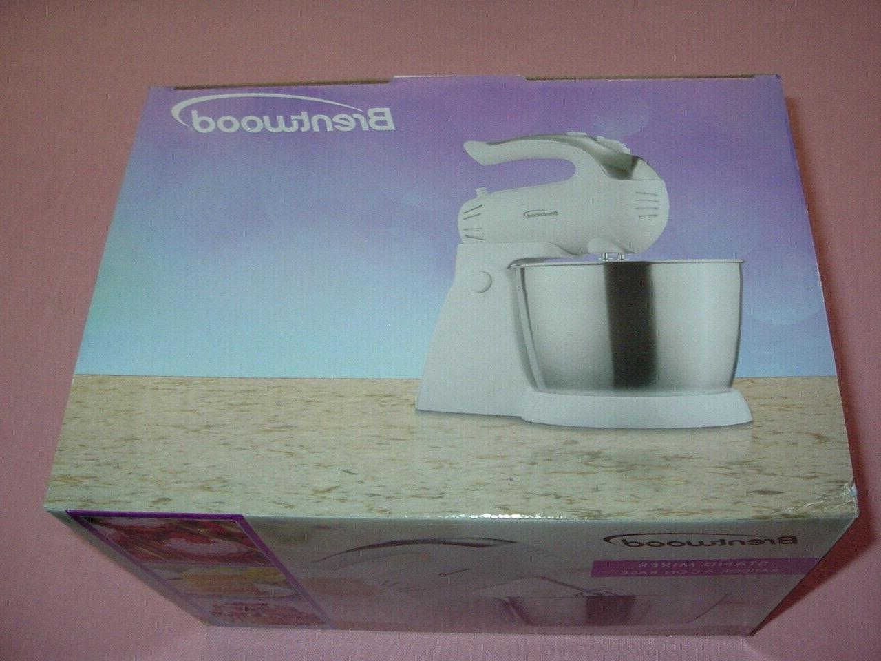 Brentwood Turbo White Stand Mixer SM Steel
