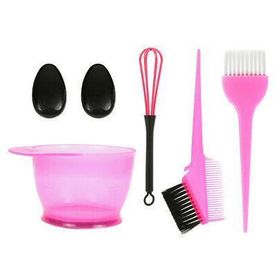 5pcs hair dye color brush and bowl