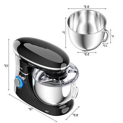6.3 Food Stand Mixer 660W Whisk Black