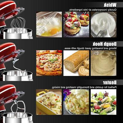 660W Quart Food 6 Speed Hook Whisk