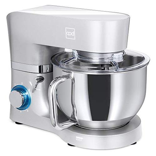 Best Choice Products 6.3qt 660W Multifunctional Stainless Steel Mixer Attachments, Scraper Guard