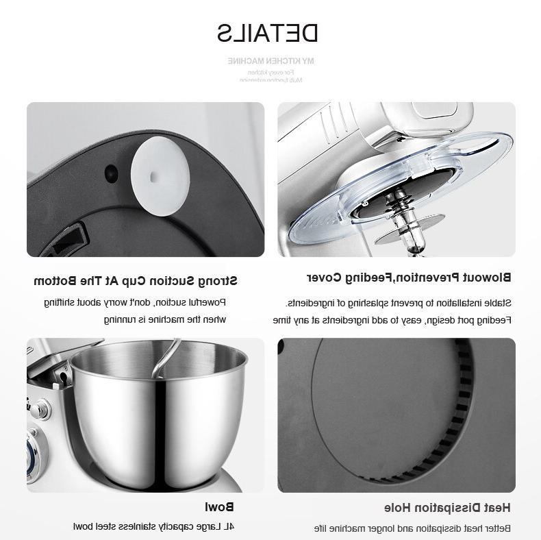 6 Speed Dough <font><b>Mixer</b></font> Egg Beater Blender Multifunctional Food Ultra <font><b>Mixer</b></font>