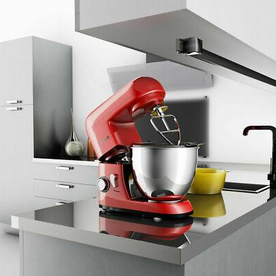 6-Speed Electric Food Stand Mixer Bowl 550W Tilt-Head
