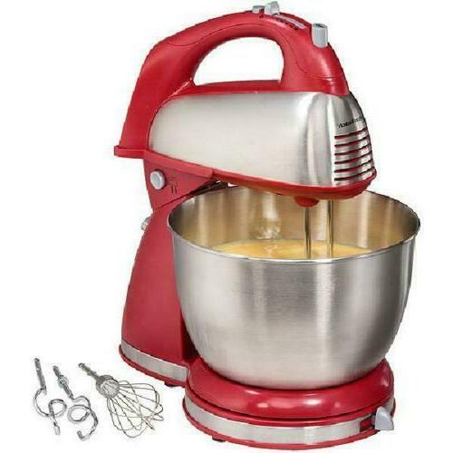 6 Speed Retro Stand & Hand Electric Mixer Kitchen Mixing Bak
