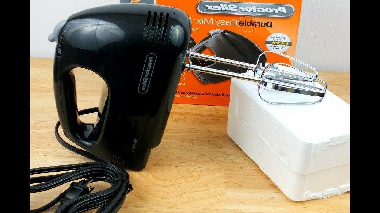 Proctor 62507 Easy Hand Mixer Black 5-Speed Bowl
