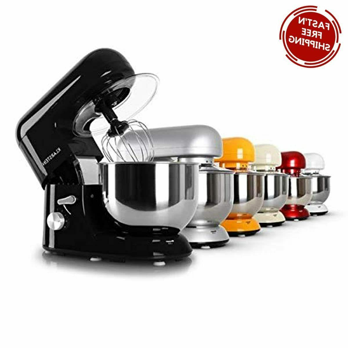 650 Watts Head Mixer 5.5 Qt Stainless Bowl - Black