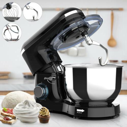 Electric Stand Mixer Food 6 Speed 6.5QT 660W  Stainless Tilt