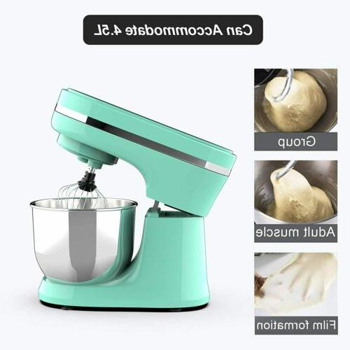 8-Speed Electric Stand Mixer Kitchen with Dough Wire 4.7QT Bowl Green