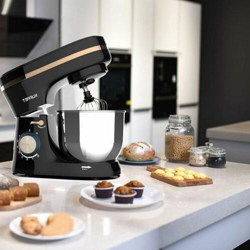 8 4.7QT Tilt-Head Countertop Mixer Home Kitchen Black