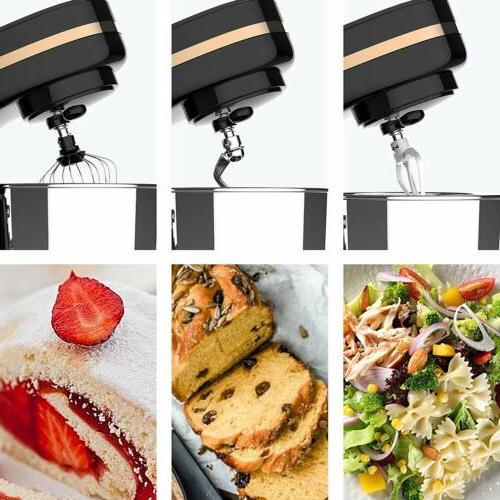 8 Speeds Electric Tilt-Head Mixer Kitchen Black