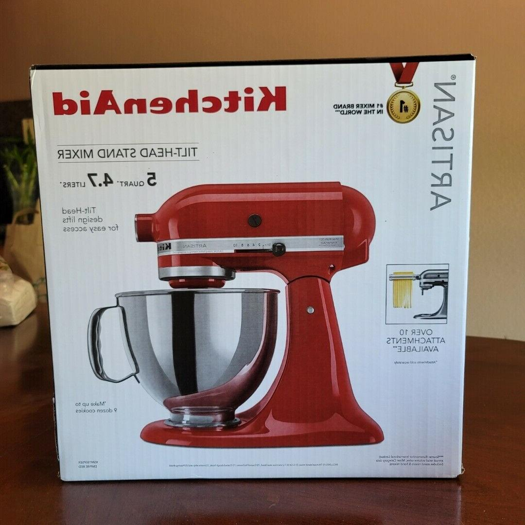 Artisan Series 5 Qt. Stand Mixer with Stainless Steel & Glas