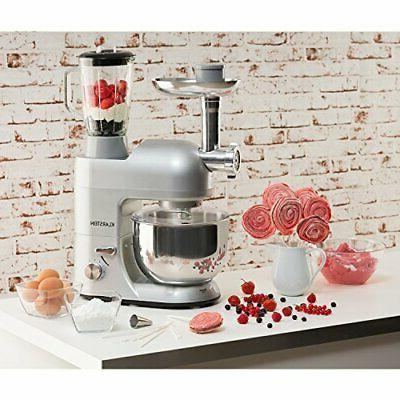 Lucia Stand Mixer, 650 qt, Speed, Silver