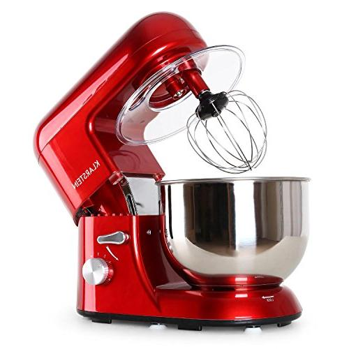 KLARSTEIN Stand Mixer • Hook, Beater, Whip • Watts • 1.1 5.5 qt Stainless Bowl Action 6 • Multifunctional