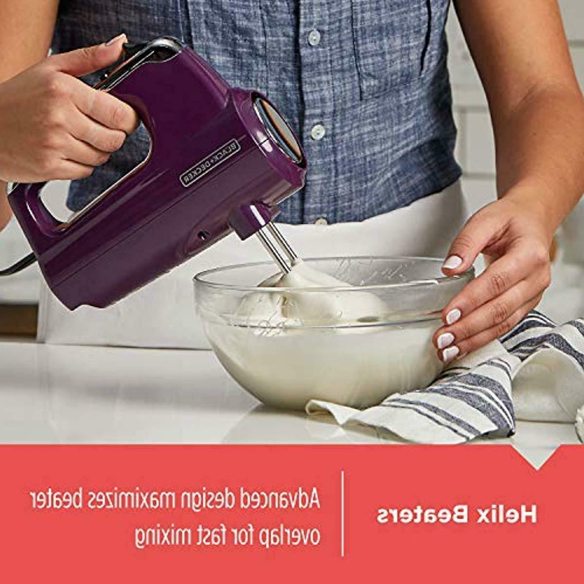 BLACK+DECKER MX600P Premium Hand Mixer Purple
