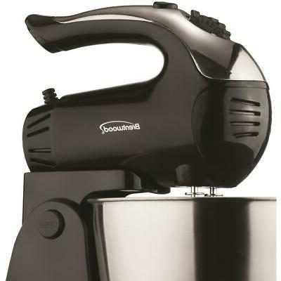 Brentwood Black Stand With Steel 3 Qt.